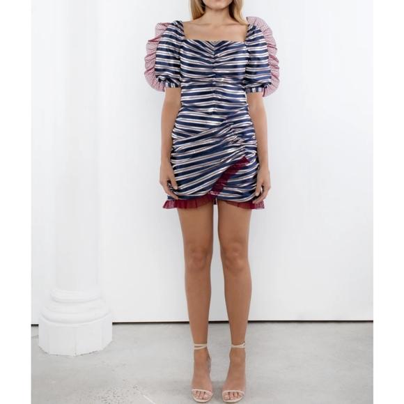 Sezane Dresses & Skirts - Nwt Delphine AU pinstriped puff sleeve skirt set 4